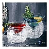 XINGJIJIJIA Seguro 4PCS Cóctel, Zumo vidrios de Martini Vidrio Vidrio Vaso de Cristal Conjunto de 4 irrompible (Capacity : 310ml, Color : Clear Set of 4)