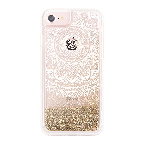 uCOLOR Gold Glitter Damask Floral Case...