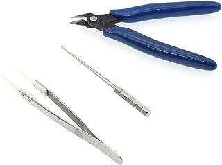 Multifunction 3 in 1 DIY Winding Tool Set Kit Coil Jig Kits Scissors Pliers +Ceramics Tweezers+Coil Jig for Homework Heating Wire Rebuild Coil