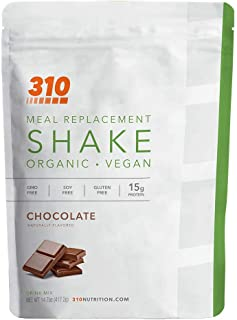 Vegan Organic Plant Protein Powder and Meal Replacement Shake - By 310 Nutrition - Gluten, Dairy and Soy Fr...