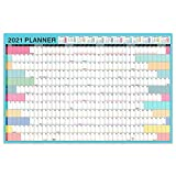Wall Planner 2021, planificador anual 2021, calendario de pared 2021 de enero de 2021 a diciembre de 2021, planner calendario familiar, color de Morandi, tamaño A1 850 x 580 mm