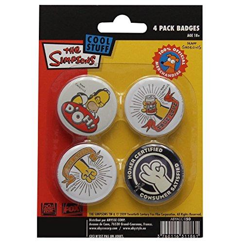 Preisvergleich Produktbild ABYstyle ABYACC050 - Button-Set,  Homer Simpsons