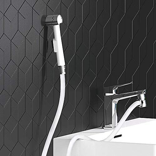 EISL DX25W-A Waschbeckenbrause, Handbrause für Küche, Bad, Waschküche oder Werkstatt, ideal zum Nachrüsten, einfache Handhabung, Set mit Schlauch (125mm) und Adapter für alle üblichen Armaturen, Weiß