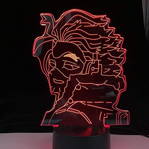 Luz De Ilusión 3D Luz De Noche Led My Hero Academia Hawks Anime Boku No Hero Academia Lámpara De Mesa Para Niños Regalo De Navidad De Cumpleaños Para Niños De Cumpleaños Para Niños