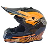 Casco Off-Road de Cuatro Estaciones Casco Completo para Hombre Casco de Motocicleta Casco de Carreras Off-Road-Bright Black KTM_S