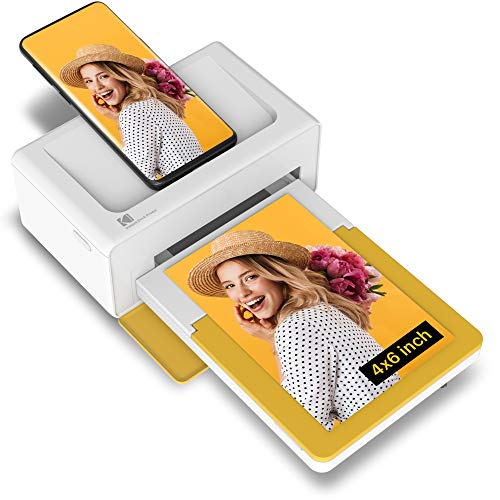 "Kodak Dock Plus Portable Instant Photo Printer, Compatible with iOS, Android and Bluetooth Devices Full Color Real Photo (4""x6""), 4Pass & Lamination Process, Premium Quality - Convenient and Practical"