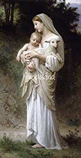Wall Art Print Entitled L'innocence, by William-Adolphe Bouguereau by Celestial Images | 16 x 32