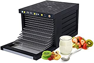 BioChef Savana Food Dehydrator with 6, 9 or 12 Stainless Steel Trays, Timer & Preset Drying Modes (6 Tray)
