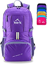 Venture Pal Lightweight Packable Durable Travel Hiking Backpack Daypack (Purple)