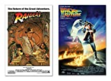 Raiders of the Lost Ark & Back to the Future - 80's Favorites Movie Poster Set (Size: 24 inches x 36 inches)