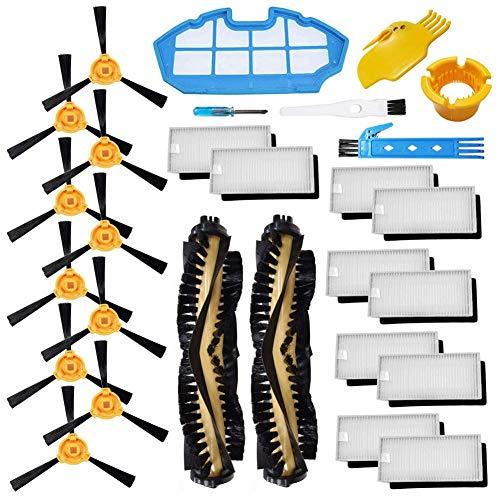 Accessori Ricambio per Ecovacs Deebot N79 N79S Kit di accessori per aspirapolvere robot Confezione di filtro Hepa, spazzola laterale
