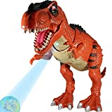 Large Walking Dinosaur Toys for Boys Dinosaur Toys for Boys and Girls – Tyrannosaurus Rex T-Rex with 3D Projection - Roaring, Walking and Glowing - Heading Moving and Tail Wagging T Rex (19 inch)