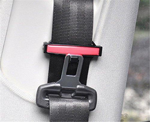 Silence Shopping Rot Universal Fit Auto Sicherheitsgurt Adjuster Clip Gurt Strap Clamp Schulter Hals Komfort Einstellung Kindersicherheit Stopper Wölbung (Rot)