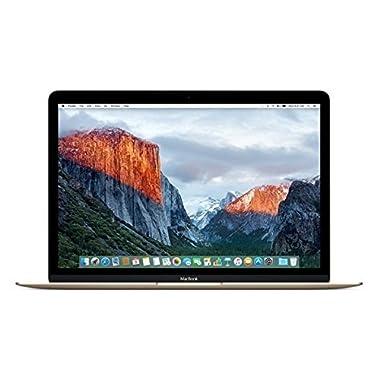 Apple MacBook (Early 2016) 12  Notebook, Retina Display, Intel Core M5-6Y54 Dual-Core, 512GB PCI-E SSD, 8GB, 802.11ac, Bluetooth, MacOS 11.4 El Capitan - Gold