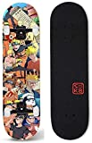 Monopatín Longboard Cruiser Completo Skateboard Naruto Longboard monopatín del crucero de arce cubierta Freestyle completos trucos combado doble del tablero del patín de la calle cepillo crucero for p