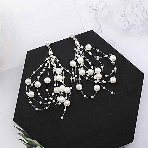 Erin Earring Exquisite Draping Tassels Exaggerate The Pearl-Drop Earrings Of The Bride'S Glamour Earrings