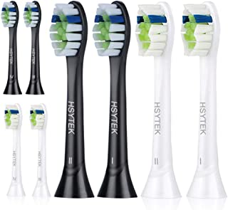 Replacement Toothbrush Heads for Philips Sonicare ProtectiveClean 5100, DiamondClean, EasyClean, FlexCare and More, White and Black, 8 Pack by HSYTEK