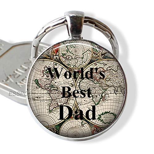DSBN Schlüsselbund Das Beste Vati-Zitat Der Welt Schlüsselanhänger Liebes-Vater-Auto Keychain Vatertags-Schmuck-Geschenk Für Vati