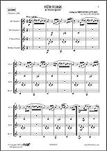 PARTITURA CLASICA - For Elise - Für Elise - L.V. BEETHOVEN - Clarinet Quartet