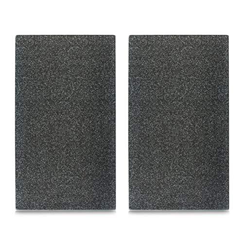 Zeller 26255 Copri-Fornelli/Tagliere Granit, Grigio, 52x30x0.8 cm, 2 unità