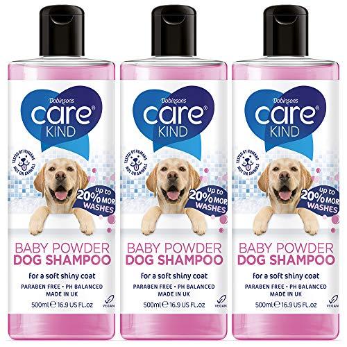 CAREKIND Champú para perros de 500 ml, champú profesional para perros olorosos con aroma fresco para bebés, mejor champú para cachorros con acondicionador, champú vegano para mascotas (3 x 500 ml)