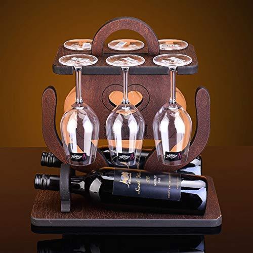 GQQG Estante de Vino Madera, Wine Rack Wood, Estante for Botellas de Vino – Botelleros de Madera for Vino u Otras Bebidas –...