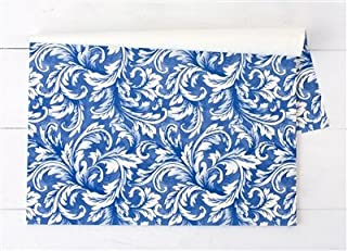 Hester and Cook China Blue Acanthus Paper Placemat - Pad of 24