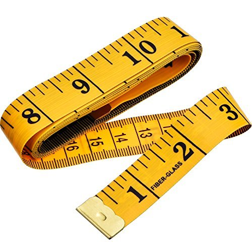 60 Pulgadas 150 cm Cinta Métrica de Sastre Suave para Regla de Tela de Doble cCara a Medida Costura deTela Cintura Sujetador Circunferencia de Cabeza(Jengibre)