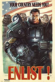 FatCat Wall Graphics Fallout 4 - Gaming Poster/Print  Your Country Needs You! Enlist!  Frameless Gift 12 x 18 inch 30cm x 46cm -S-204