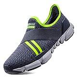 TAZAN Zapatos Hombre De Agua 2019,Calzado Deportivo Al Aire Libre,Transpirable De Secado Rápido Adulto Escarpines De Playa Descalzo Yoga Negro Gris Azul 40-46,Verde,42