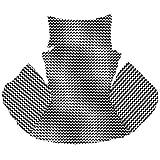 Ferocity Cojín de Silla de Hamaca, Colgante Huevo Cojines, Columpio Silla Cojín Respaldo con Almohada para la Cabeza, Cjín Impermeable, para Patio Jardín, Zig-Zag [114]
