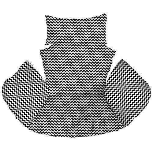 Ferocity Hängesessel Kissen, Polster, Auflage für Polyrattan/Rattan Hängeschaukel, Hängekorb, Schaukel Korb, Rückenkissen Zig Zag [114]