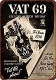 cwb2jcwb2jcwb2j 1936 Vat 69 Scotch Whiskey Vintage Reproduction Metal Sign 8 x 12