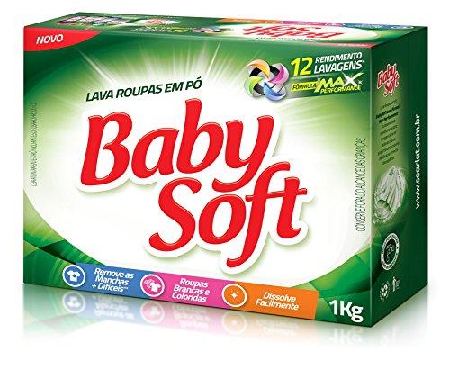 Lava Roupas Pó Max Performance Cartucho 1kg, Baby Soft, Verde, Grande