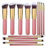 KYEEY Cepillos faciales Brocha de Maquillaje de 14 Piezas Beauty Makeup Makeup Foundation Makeup Brush Set for Mujeres Herramientas de Maquillaje de Ojos (Color : Pink Gold)