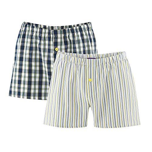 Living Crafts Boxer-Shorts, 2er-Pack XL, Navy/Lemon