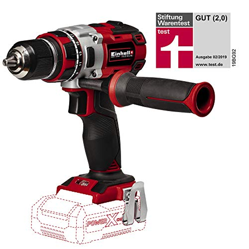 "Einhell Perceuse visseuse sans fil sur batterie TE-CD 18 Li Brushless - Solo "" Power X-Change (18 V, 2 vitesses, Couple : 60 Nm, 20 positions) - VERSION SOLO, LIVRE SANS BATTERIE NI CHARGEUR"