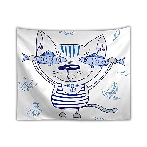ZYLSZBD Tapiz,Cubrecama, Cubre sofá, Mantel, Pareo,Impresión Digital Lindo Gato Animal-Estilo 4_Los 230X150cm