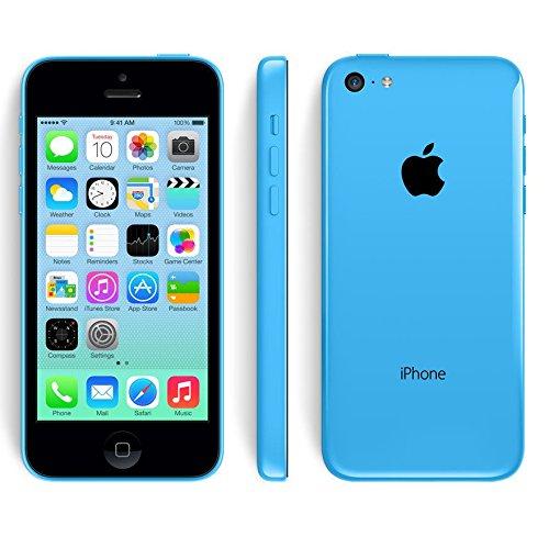 Apple iPhone 5C - 4G Smartphone Libre iOS 7 (Pantalla 4' IPS, Cámara 8 MP, A1532, Dual-Core 1.3 GHz, 8GB ROM, 1 GB RAM, Siri) (Azul) (Reacondicionado)