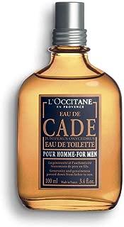 L'Occitane Rugged Cade Eau de Toilette for Men, 3.4 Fl Oz
