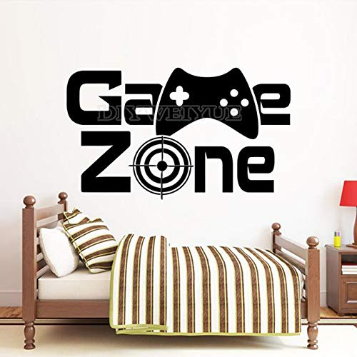 Creativity Gamer Zone Wall Decal Gamer Controller Video Game Wall Decal Vinyl Remoabel Kids Children's Room Game Room Decoration Poster