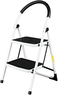 AVGDeals 2 Step Ladder Folding Stool Heavy Duty Industrial Lightweight 330Lbs Capacity | with Portable Size so it can Save Space When not in use.