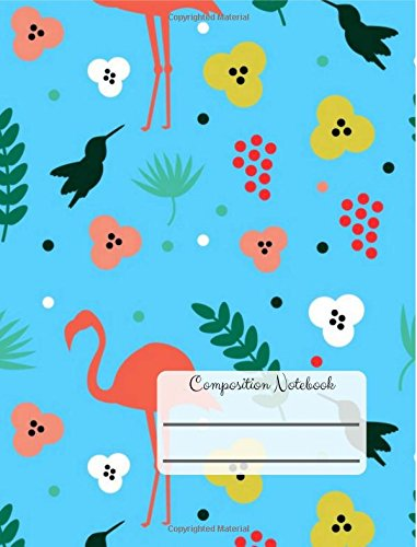 Composition Notebook: Modern Tropical College Ruled Notebook