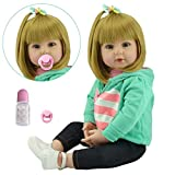 Pinky 22inch 55cm Soft Dolls Reborn Baby Girl Realistic Look Real Newborn Doll Toddler Reborn Silicone Babies