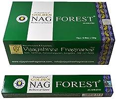 12 boxes of Golden Nag Forest Incense, 180 sticks per pack..