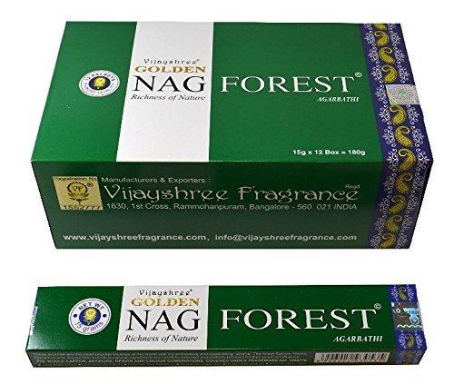 12 Boxen von Räucherstäbchen Golden Nag Forest, 180 Räucherstäbchen
