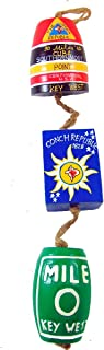 Florida Key West Conch Republic Wooden Mobile Decorative Hanging Strand Coastal Home Decor 16 Inches Long