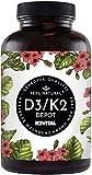 Vitamin D3 + K2 Tabletten - 180 Stück - Hochdosiert mit 5000 I.E. Vitamin D3 und 100 mcg Vitamin K2 pro EINER Tablette - Hochwertig: 99,7+% All-Trans MK7 (K2VITAL®) - in Deutschland produziert