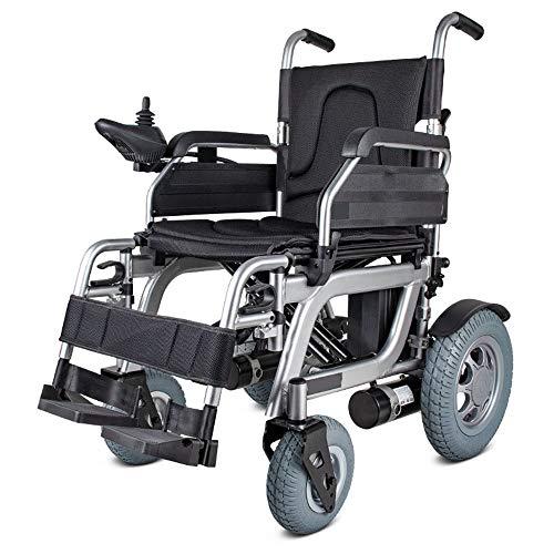 DYHQQ Silla eléctrica portátil Plegable, batería de ión de Litio de 320W 24V 20Ah, Silla de Movilidad con batería de Litio extraíble, sillas de Ruedas motorizadas