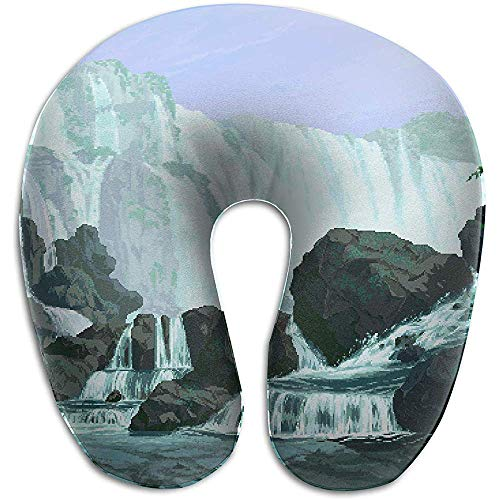 Nackenkissen,U-Förmiges Kissen Pixel Art Memory Foam Nackenstütze Travel Plane Pillows